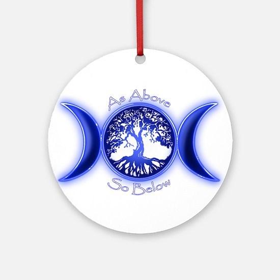 Cute Wiccan Round Ornament