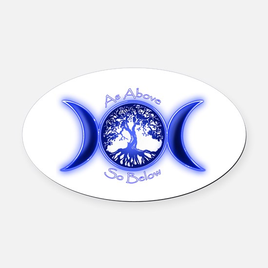 Cute Paganism Oval Car Magnet