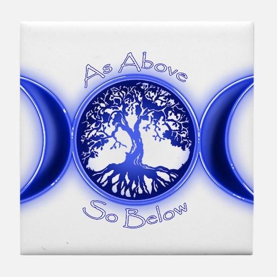 Funny Tree life Tile Coaster