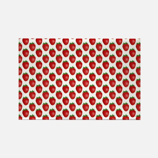 Cute Strawberries Rectangle Magnet