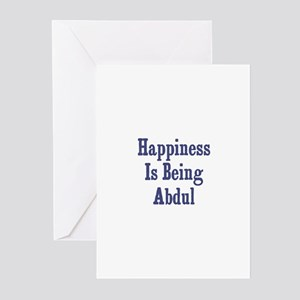 Happiness is being Abdul Greeting Cards (Pk of 10)