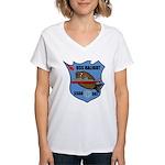 USS Halibut (SSGN 587) Women's V-Neck T-Shirt