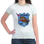 USS Halibut (SSGN 587) Jr. Ringer T-Shirt