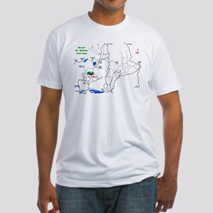 Mount St. Helens trail map  Fitted T-Shirt