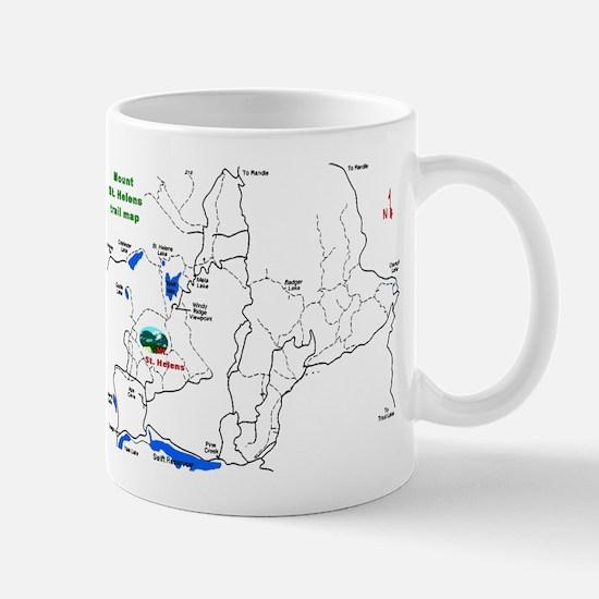 Mount St. Helens trail map  Mug