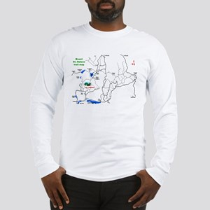 Mount St. Helens trail map  Long Sleeve T-Shirt