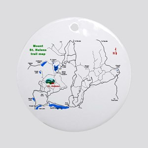 Mount St. Helens trail map  Ornament (Round)