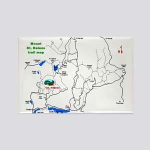 Mount St. Helens trail map Rectangle Magnet