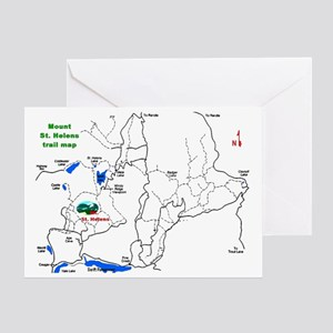 Mount St. Helens trail map Greeting Card