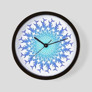 Tribal Hammerhead Mandala Wall Clock