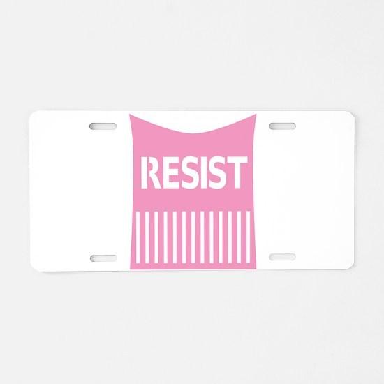 Pussy Hat Resist Aluminum License Plate