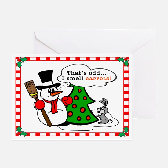 I Smell Carrots Holiday Greeting Card