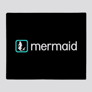 Mermaid (Aqua) Throw Blanket