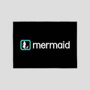 Mermaid (Aqua) 5'x7'Area Rug