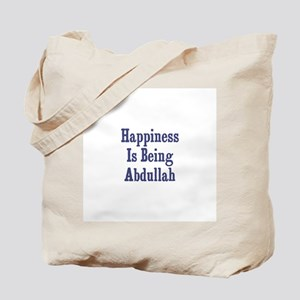 Happiness is being Abdullah Tote Bag