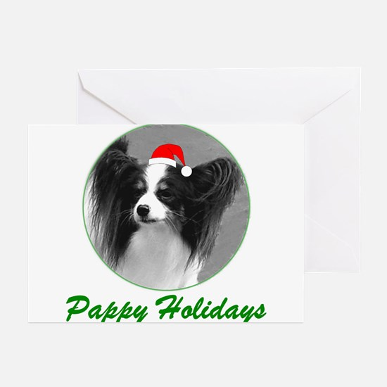 Pappy Holidays (b/w santa hat) Greeting Cards (Pac