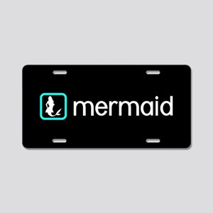 Mermaid (Aqua) Aluminum License Plate
