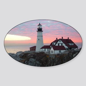 Portland Headlight Sunrise Oval Sticker