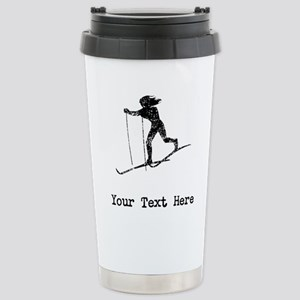 Vintage Cross Country Skier (Custom) Mugs