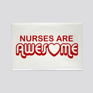 Nurses are Awesome Rectangle Magnet