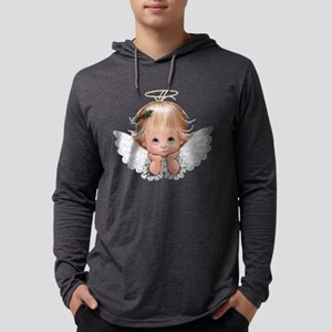Cute Christmas Baby Angel Head In Hands Long Sleev