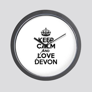 Keep Calm and Love DEVON Wall Clock