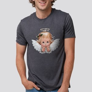 Cute Christmas Baby Angel Head In Hands T-Shirt