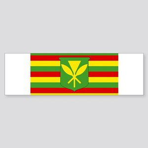 Kanaka Maoli Flag - Hawaiian Indepe Bumper Sticker