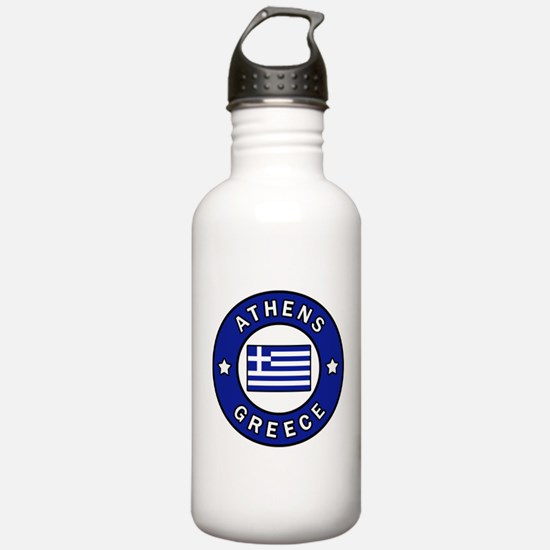 Athens Greece Sports Water Bottle