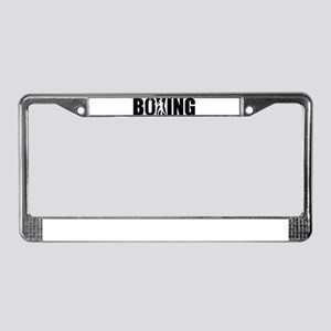 Boxing License Plate Frame