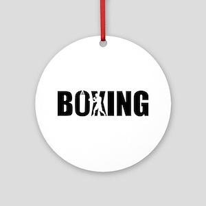 Boxing Round Ornament