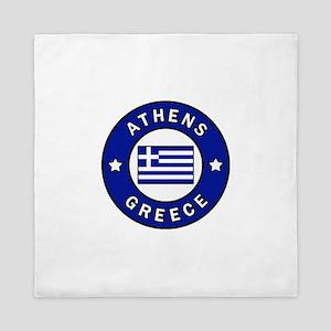 Athens Greece Queen Duvet