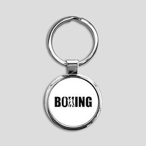Boxing Round Keychain
