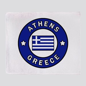Athens Greece Throw Blanket