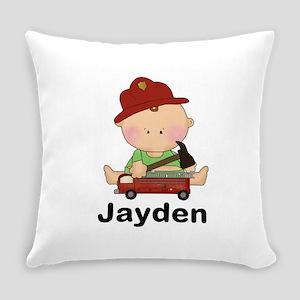 Jayden's Little Firefighter Everyday Pillow
