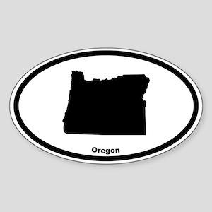 Oregon State Outline Oval Sticker
