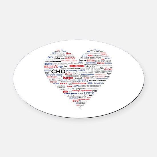 Cute Chd Oval Car Magnet