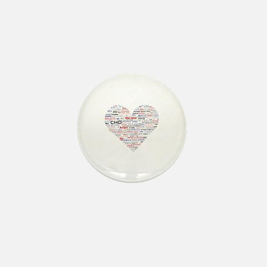 Cute Congenital heart defect Mini Button