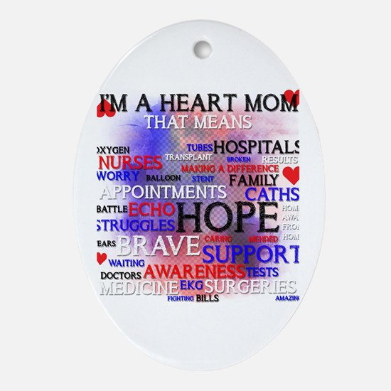 Funny Awareness Oval Ornament