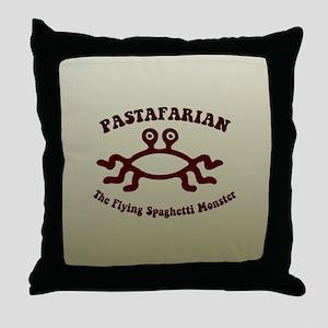 Flying Spaghetti Monster Throw Pillow
