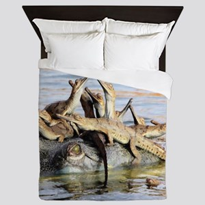 Baby Alligators Queen Duvet