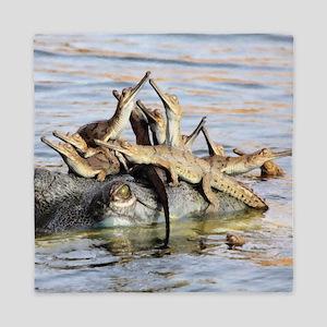 Baby Alligators Queen Duvet