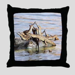 Baby Alligators Throw Pillow