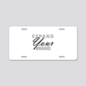expand YOUR brand Aluminum License Plate