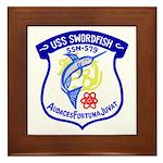 USS Swordfish (SSN 579) Framed Tile