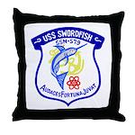 USS Swordfish (SSN 579) Throw Pillow