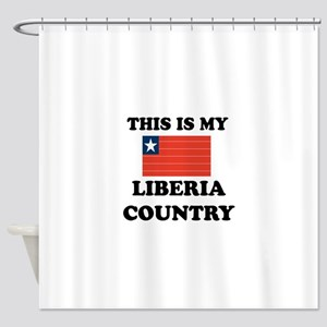 This Is My Liberia Country Shower Curtain