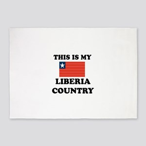 This Is My Liberia Country 5'x7'Area Rug