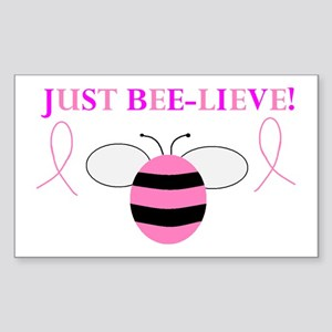 JUST BEE-LIEVE! Rectangle Sticker