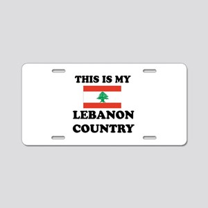 This Is My Lebanon Country Aluminum License Plate